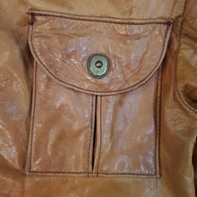 Load image into Gallery viewer, 70's Tan Leather Jacket