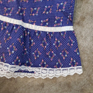 Gunne Sax Lace & Floral 70's Skirt - Size 9