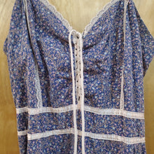 Load image into Gallery viewer, *SOLD* Gunne Sax 70's Sleeveless Floral & Lace Dress