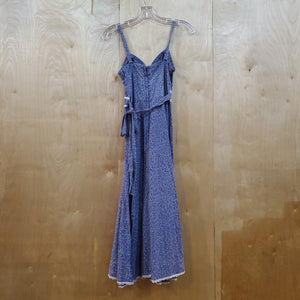 *SOLD* Gunne Sax 70's Sleeveless Floral & Lace Dress