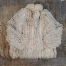 Load image into Gallery viewer, *SOLD* White & Gray Fur Coat