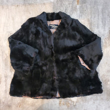 Load image into Gallery viewer, Black Short Fur Coat