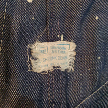 "Load image into Gallery viewer, 60's Sears ""PRE-SHRUNK DENIM"" Overalls"