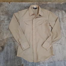 Load image into Gallery viewer, 70's Levi's Khaki Western Snap Shirt