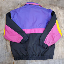Load image into Gallery viewer, Fleece Lined Nylon Jacket Size XL