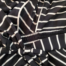Load image into Gallery viewer, Black & White Striped Jumpsuit