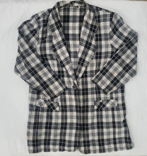 Load image into Gallery viewer, Black & White Plaid Blazer