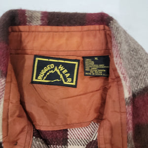 80's Plaid C.P.O. Size XL