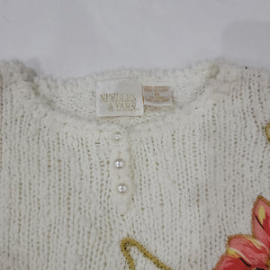 Cut & Sew Sweater Size M