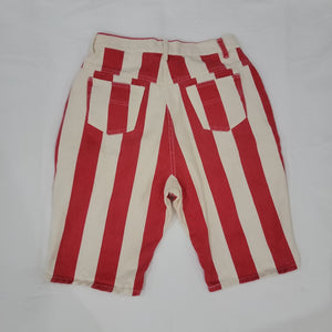 Striped Denim Shorts Size 16
