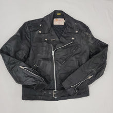 Load image into Gallery viewer, *HOLD* 70's Motorcycle Leather Jacket Size 38 R - Available Soon!