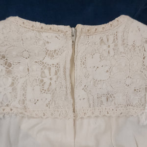 70's Gunne Sax Cotton Lace & Velour Tiered Dress Size 11