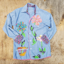 Load image into Gallery viewer, Floral Chambray Shirt