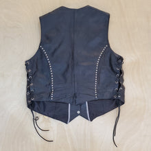 Load image into Gallery viewer, Leather Biker Vest