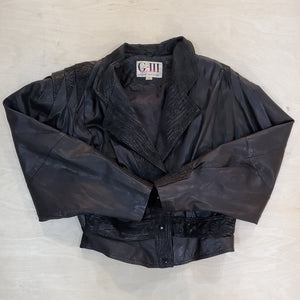 G III Black Leather Jacket