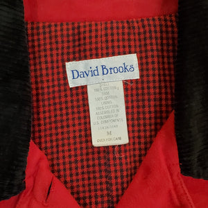 Red Jacket with Corduroy Collar