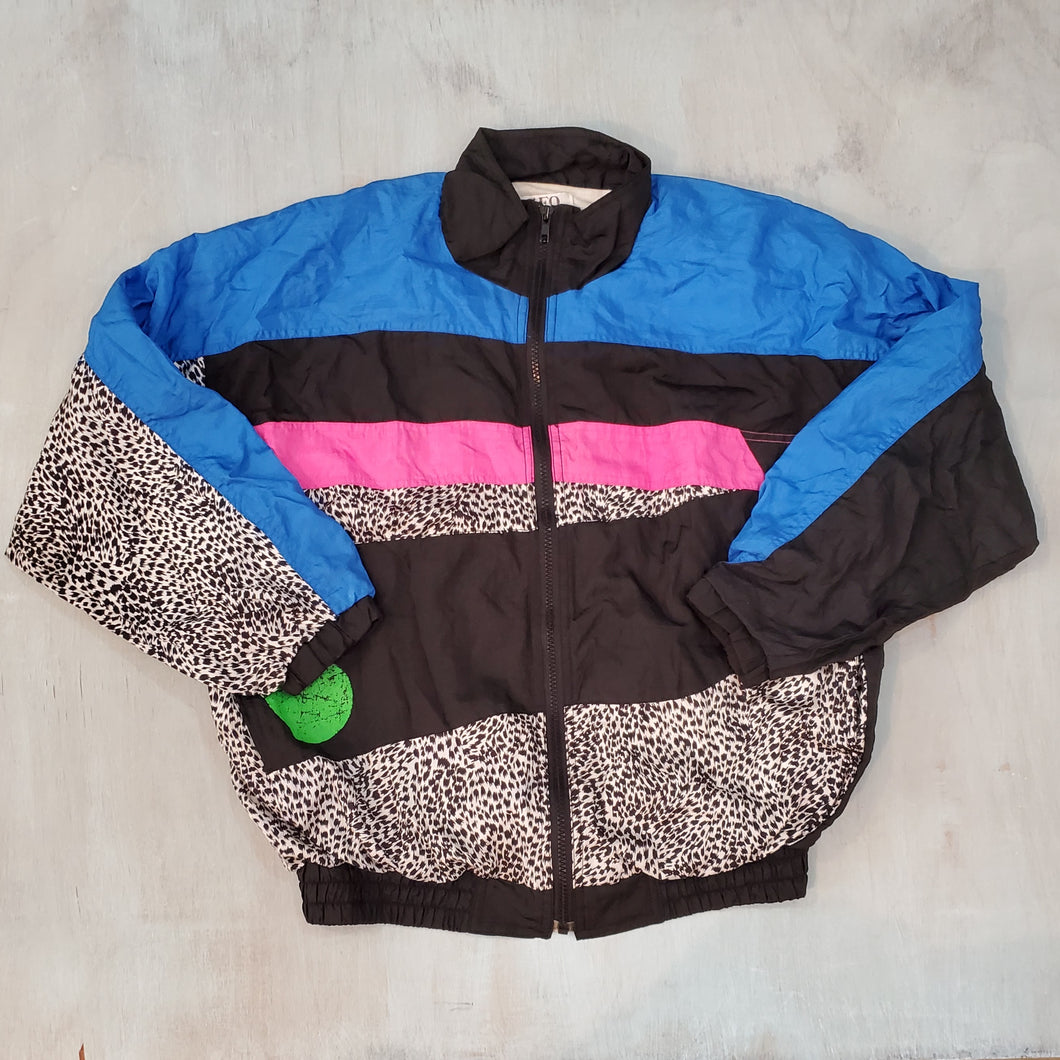 Colorblocked Nylon Jacket