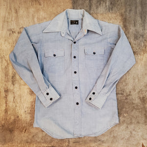 Embroidered Chambray Shirt
