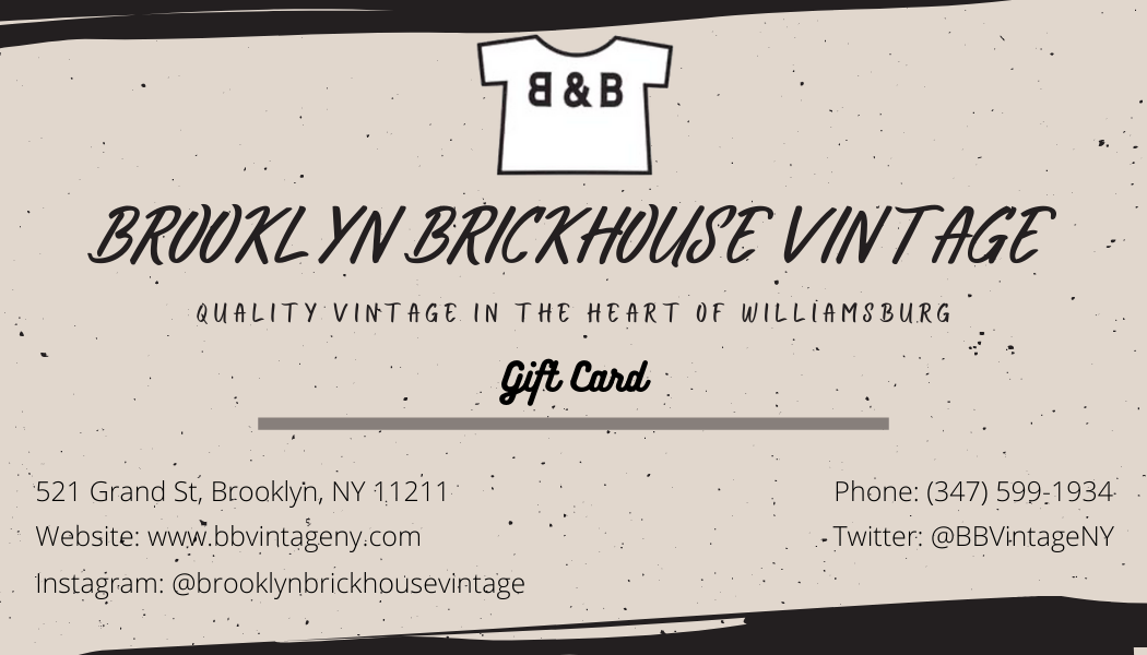 Brooklyn Brickhouse Vintage: Gift Card