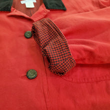 Load image into Gallery viewer, Red Jacket with Corduroy Collar