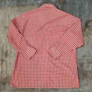 Red Gingham Western Snap Shirt