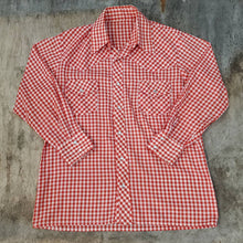 Load image into Gallery viewer, Red Gingham Western Snap Shirt