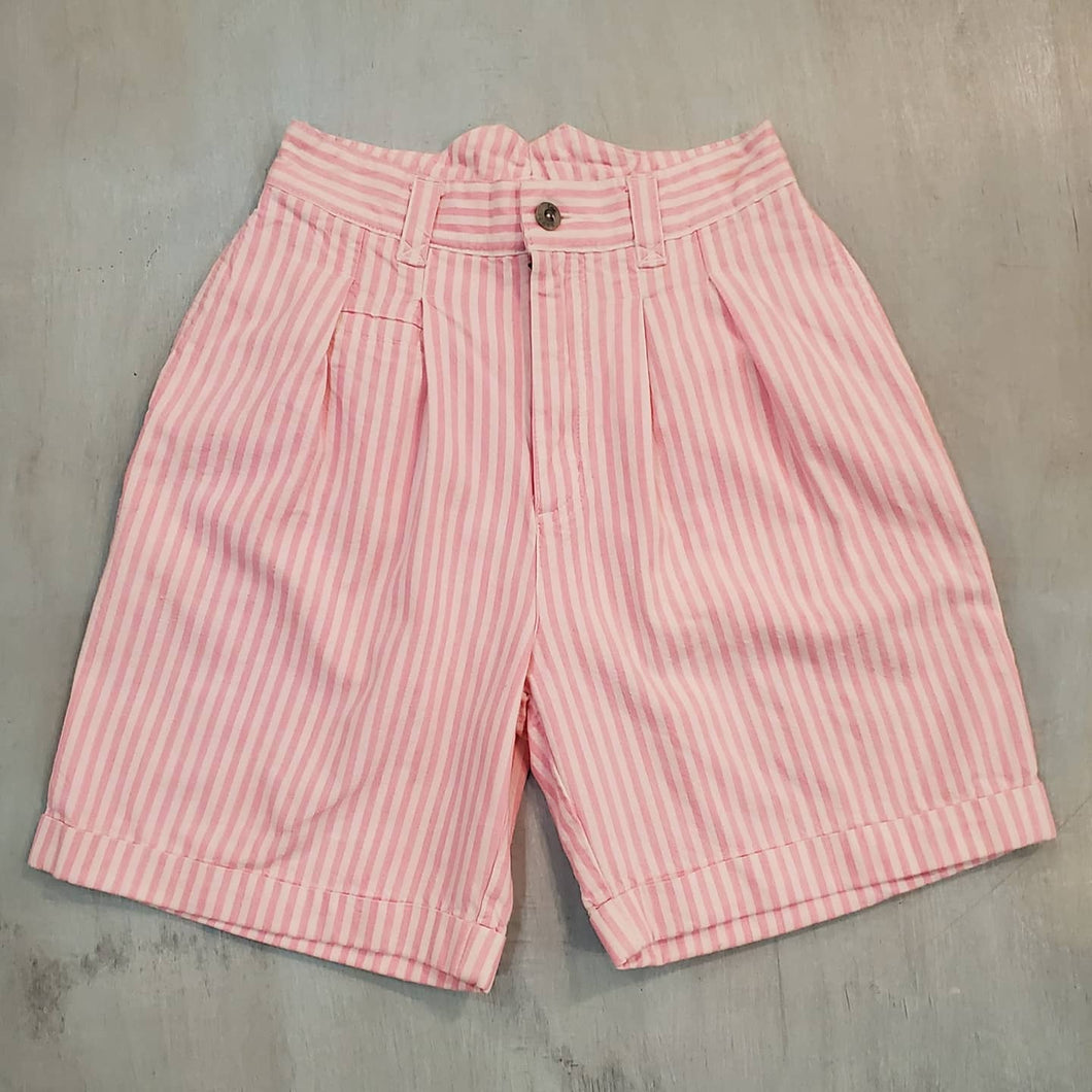 Lee Highwaisted Striped Shorts