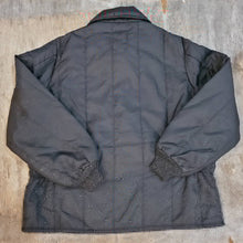 Load image into Gallery viewer, Black Insulated Nylon Jacket