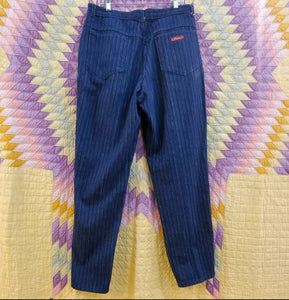 *SOLD* Karen Striped High Waisted Denim