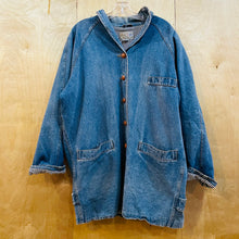 Load image into Gallery viewer, French Navy Heavy Denim Coat