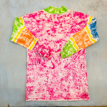 "Load image into Gallery viewer, 90's Tie Dye floral ""Love"" Heavy Tee"
