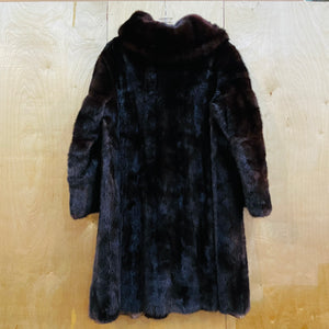 Full Body Dark Brown Mink Fur Coat