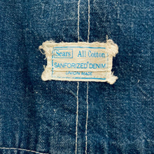 Load image into Gallery viewer, Sears Sanforized Union Made Overalls in 34x29