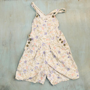 Floral Overall Shorts
