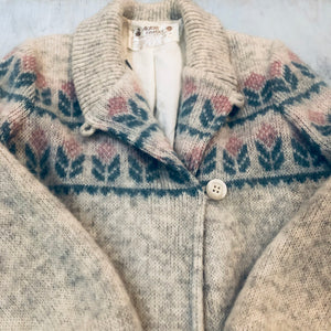Wool Button Heavy Cardigan Sweater