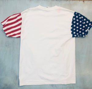US Flag Sleeved Tee