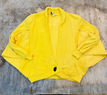 Load image into Gallery viewer, Yellow Oversized Cardigan