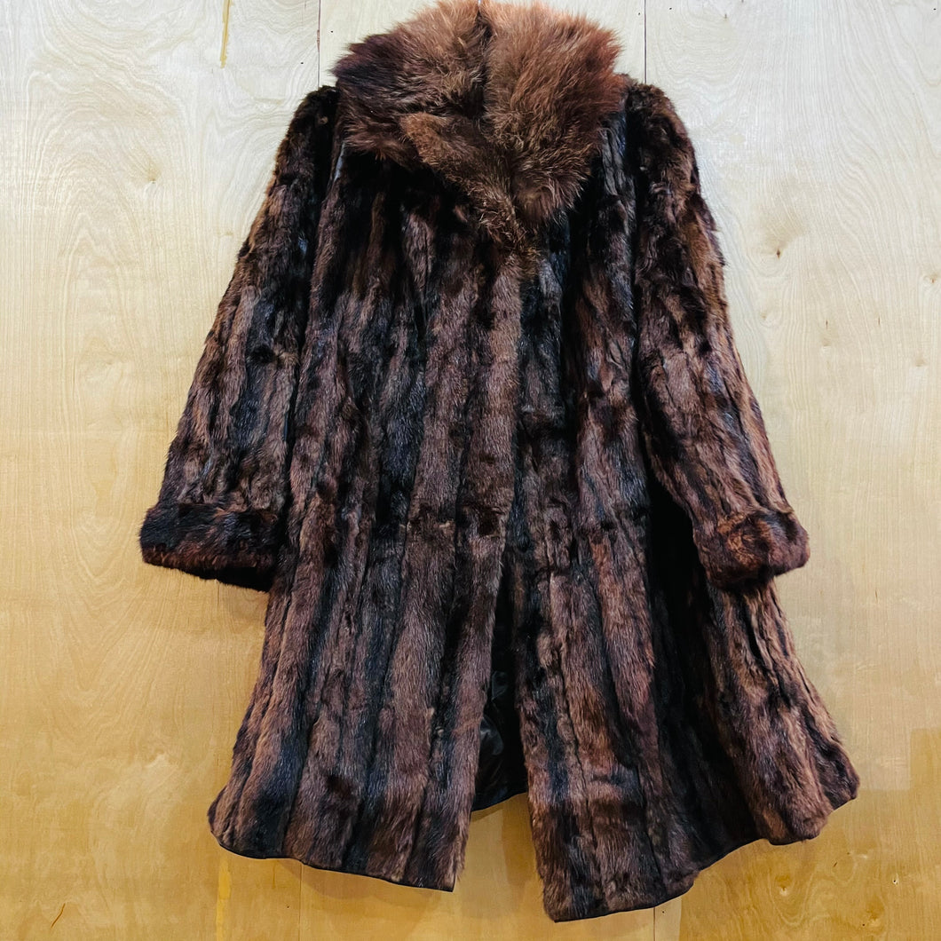 Scruff Collar Fur Coat