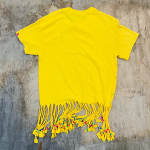 Frayed Paint Splashed Tee