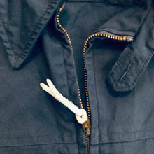 Load image into Gallery viewer, Shanhouse 1960's Navy Light Zip Jacket