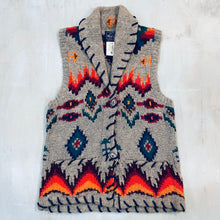 Load image into Gallery viewer, Woolrich Silver Buttoned Wool Vest