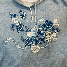 Load image into Gallery viewer, Floral Raised Collar Sweatshirt