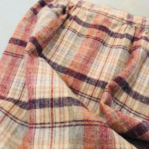 Plaid Mid-length Skirt