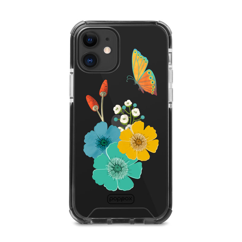 Bumper Edge iPhone 12 - Butterfly and Flowers