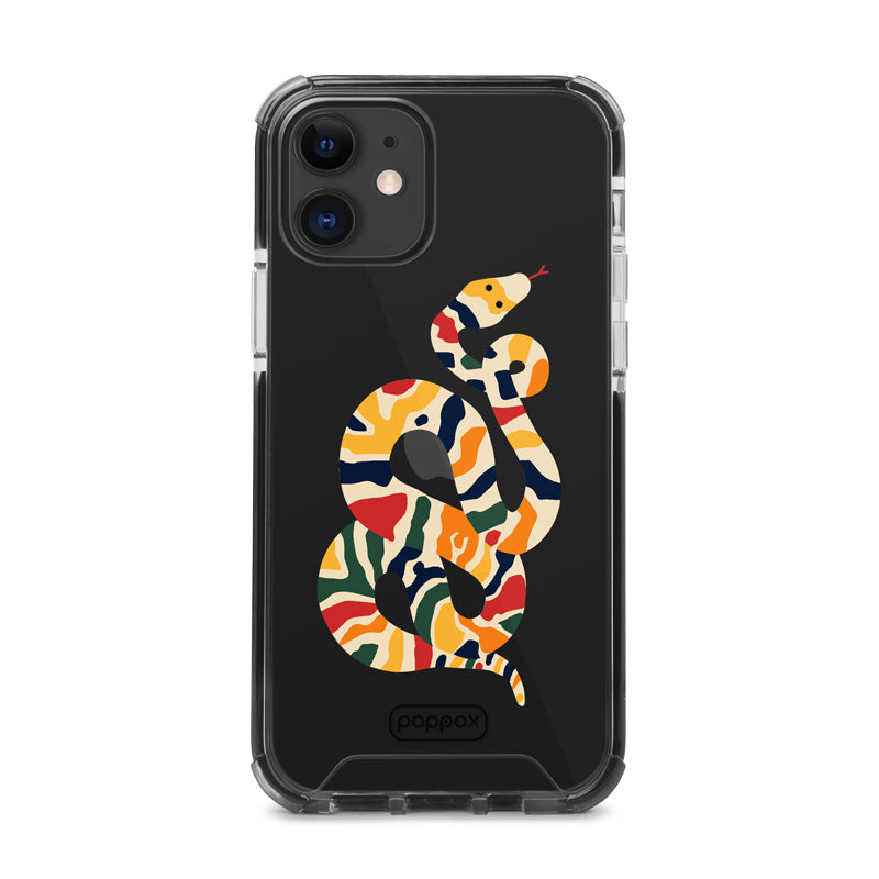 shockproof phone case for iphone 12 with  colour snake print case design