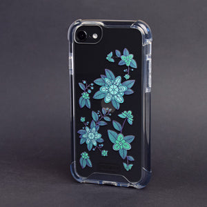 Bumper Edge iPhone SE- Emerald Abstract Flowers