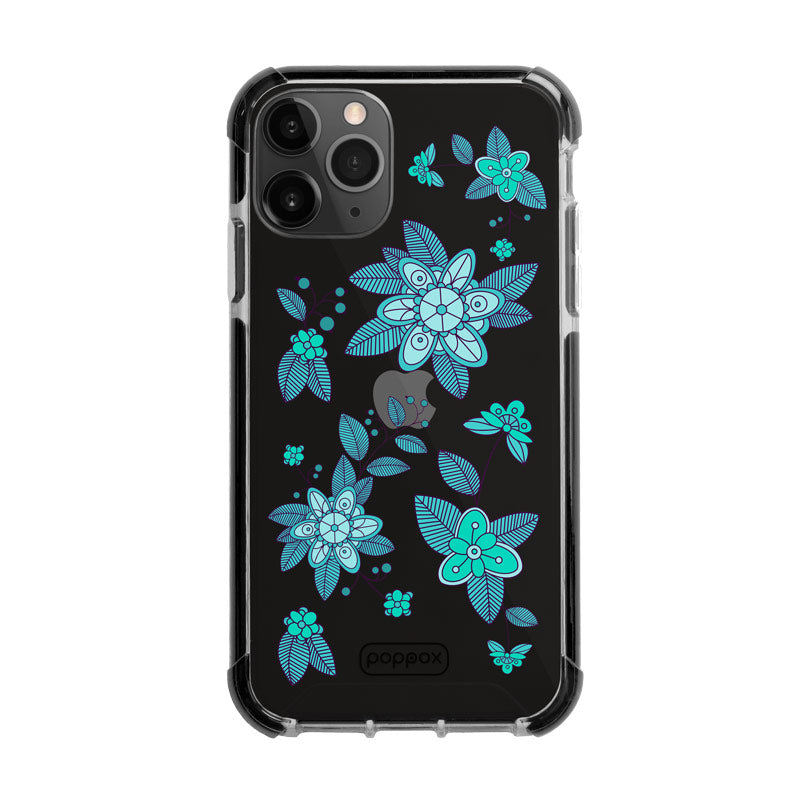 Bumper Edge iPhone 11 Pro - Emerald Abstract Flowers