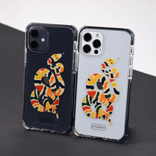 Cargar imagen en el visor de la galería, iphone 12 pro and iphone 12 with a printed shockproof phone case with colour snake print design