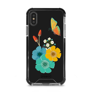 Bumper Edge iPhone XS Butterfly and Flowers