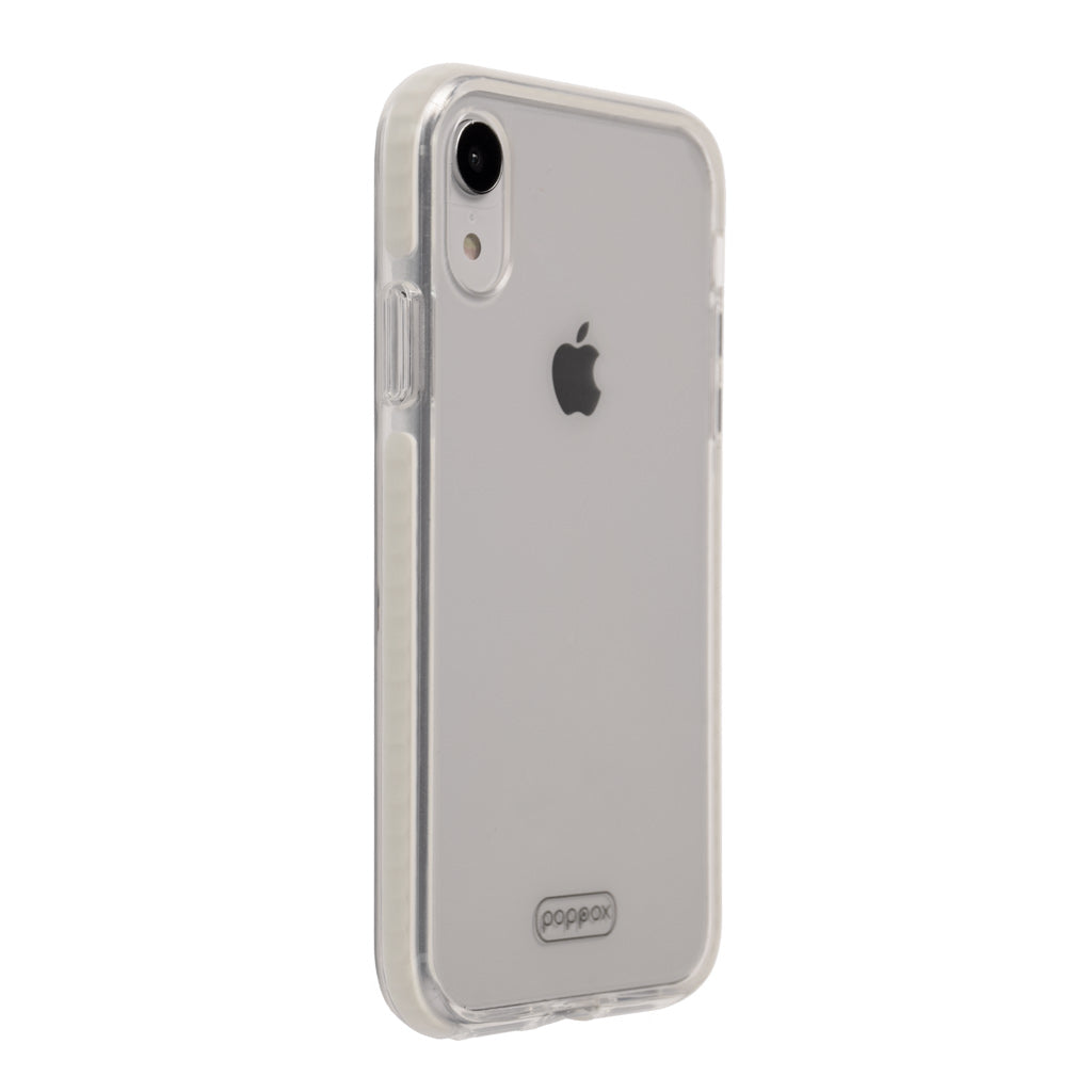 iphone xr slim shockproof phone case lateral whit in diagonal view